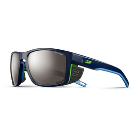 Julbo Shield Spectron 4 Sunglasses dark blue/blue/green-brown flash silver